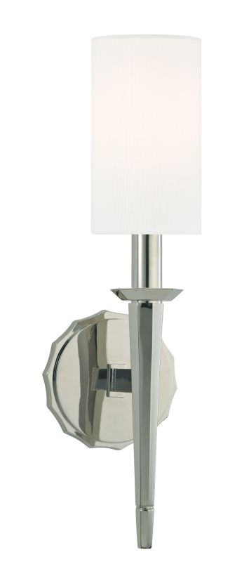 Hudson Valley Lighting 8881 Tioga 1 Light Wall Sconce Polished Nickel