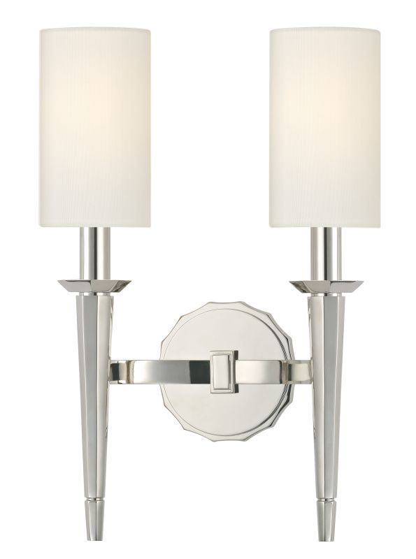 Hudson Valley Lighting 8882 Tioga 2 Light Wall Sconce Polished Nickel
