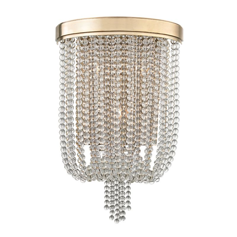 Hudson Valley Lighting 9000 Royalton 3 Light Wall Sconce with Clear