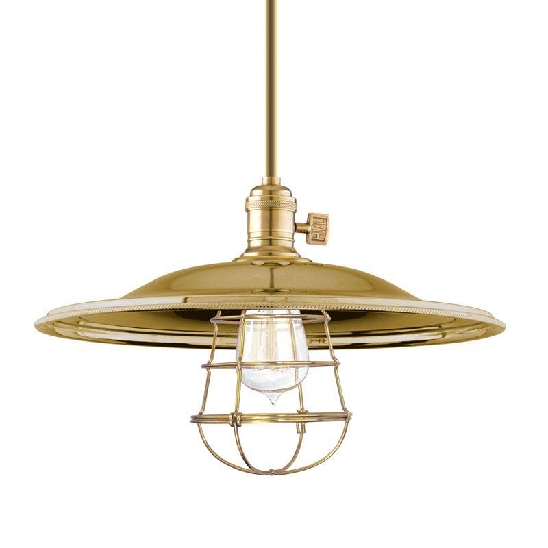 Hudson Valley Lighting 9001-MM2-WG Heirloom 1 Light Pendant Aged Brass