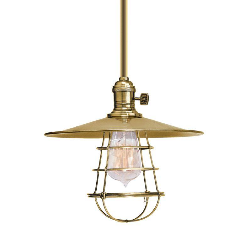 Hudson Valley Lighting 9001-MS1-WG Heirloom 1 Light Pendant Aged Brass