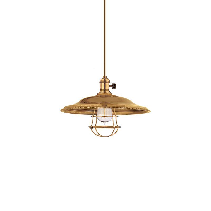 Hudson Valley Lighting 9001-MS2-WG Heirloom 1 Light Pendant Aged Brass