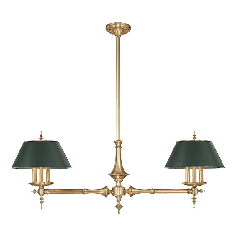 Hudson Valley Lighting 9512 Six Light Island Fixture from the Bristol Sale $2772.00 ITEM#: 524833 MODEL# :9512-AGB UPC#: 806134041793 :