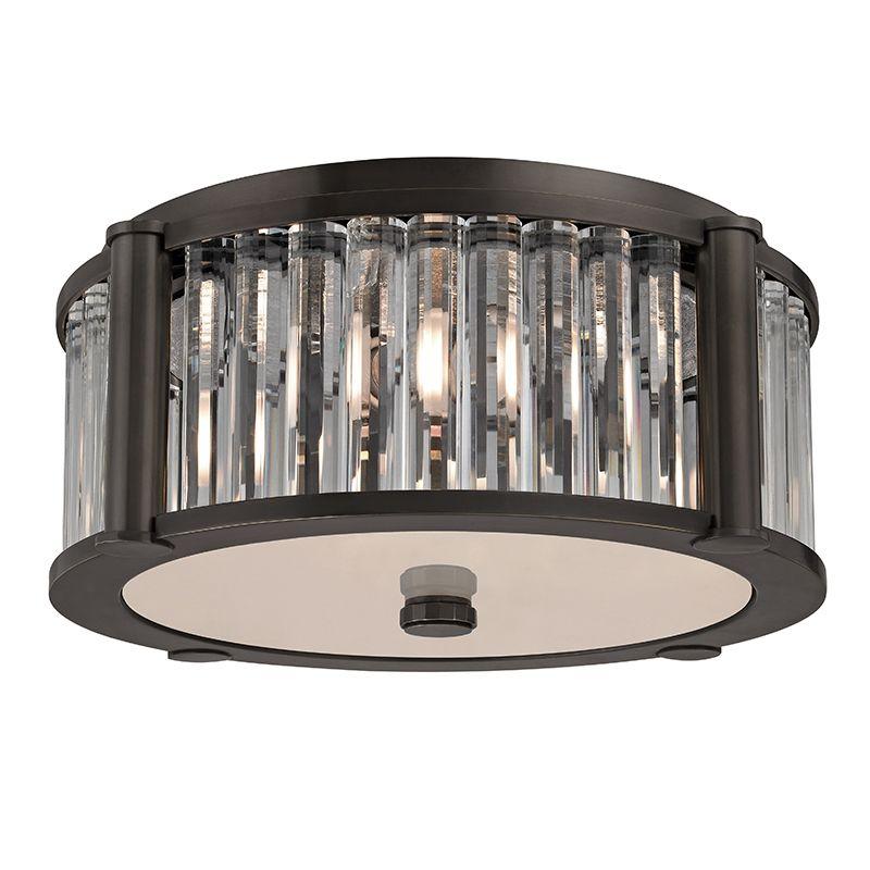 """Hudson Valley Lighting 9515 Hartland 2 Light 12"""" Flush Mount Ceiling"""