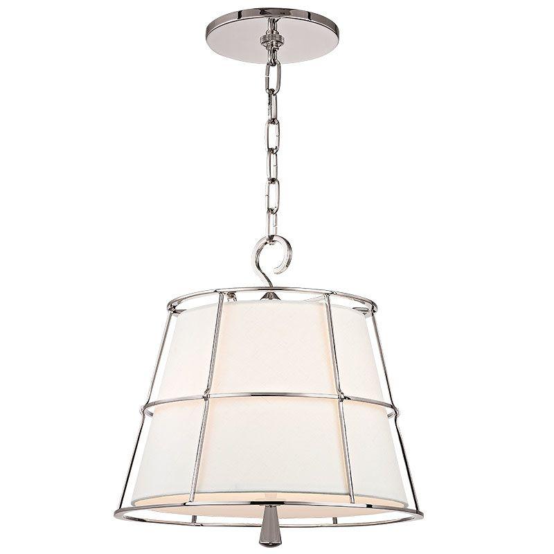 "Hudson Valley Lighting 9816 Savona 2 Light 15"" Pendant with Linen"