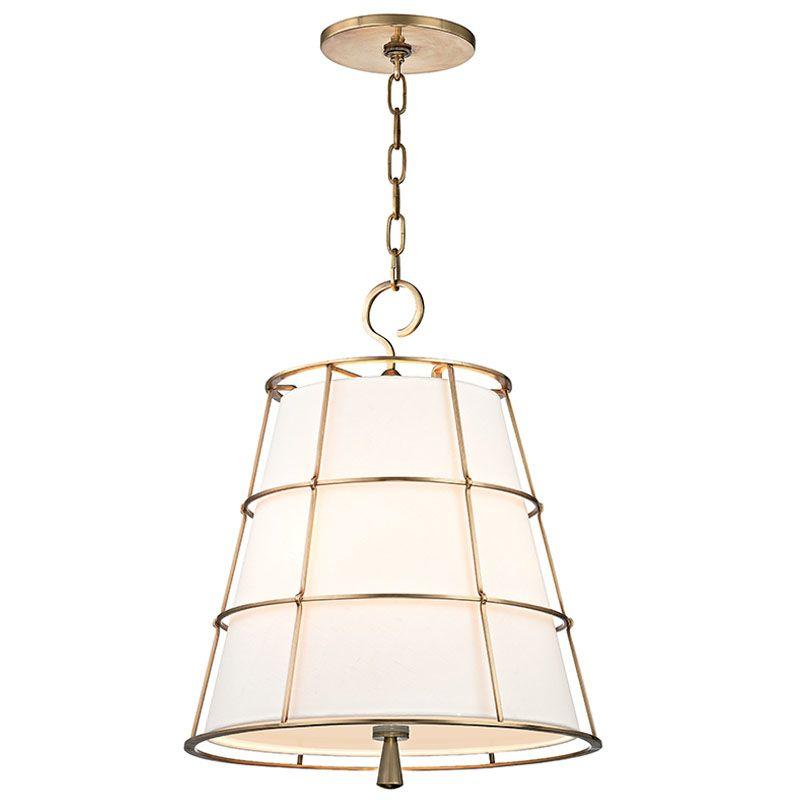 "Hudson Valley Lighting 9818 Savona 3 Light 18"" Pendant with Linen"