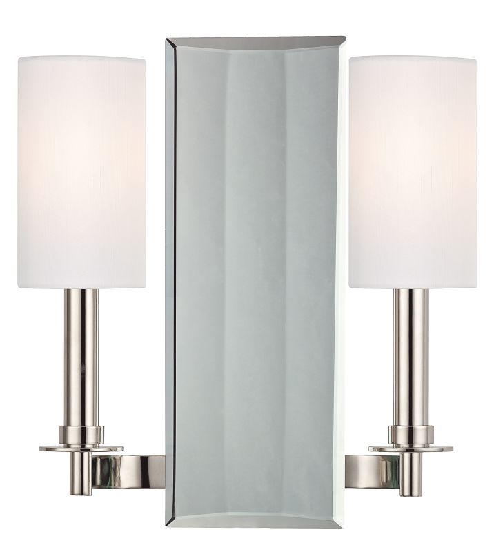 Hudson Valley Lighting 992 Adams 2 Light Wall Sconce Polished Nickel Sale $155.20 ITEM#: 2295392 MODEL# :992-PN UPC#: 806134162627 :