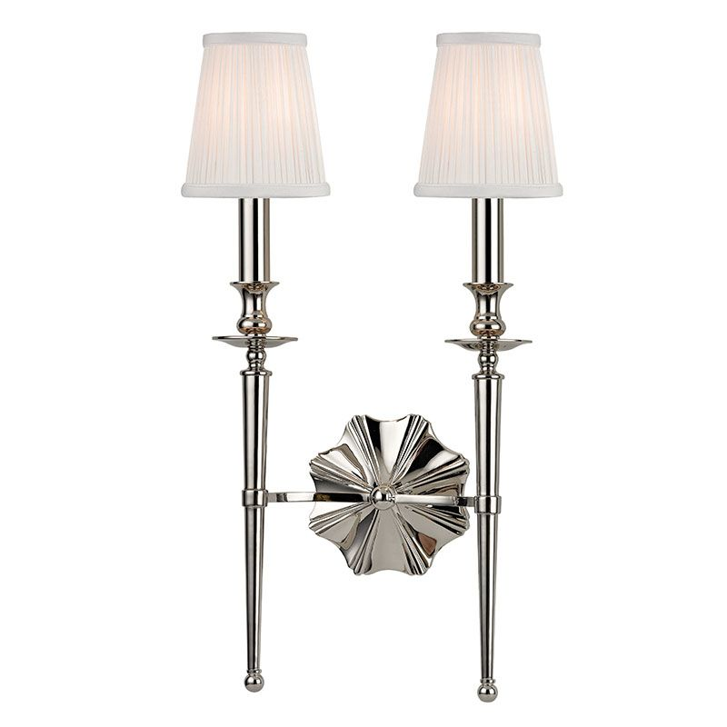 Hudson Valley Lighting 9922 Ellery 2 Light Double Wall Sconce with Sale $450.00 ITEM#: 2402309 MODEL# :9922-PN UPC#: 806134174194 :