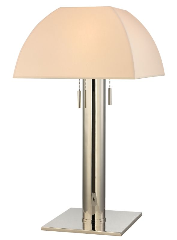 Hudson Valley Lighting L246-N Alba 2 Light Table Lamp with Natural Sale $537.00 ITEM#: 2295126 MODEL# :L246-PN-N UPC#: 806134157203 :