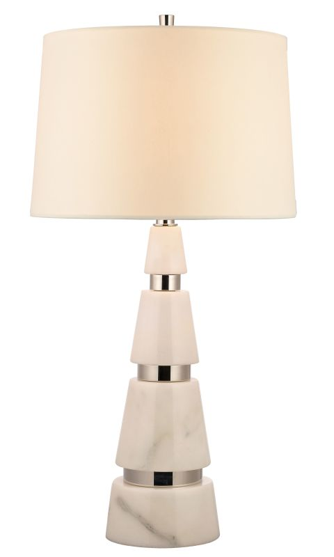 Hudson Valley Lighting L787 Modena 1 Light Marble Table Lamp Polished Sale $599.00 ITEM#: 2295176 MODEL# :L787-PN UPC#: 806134156558 :