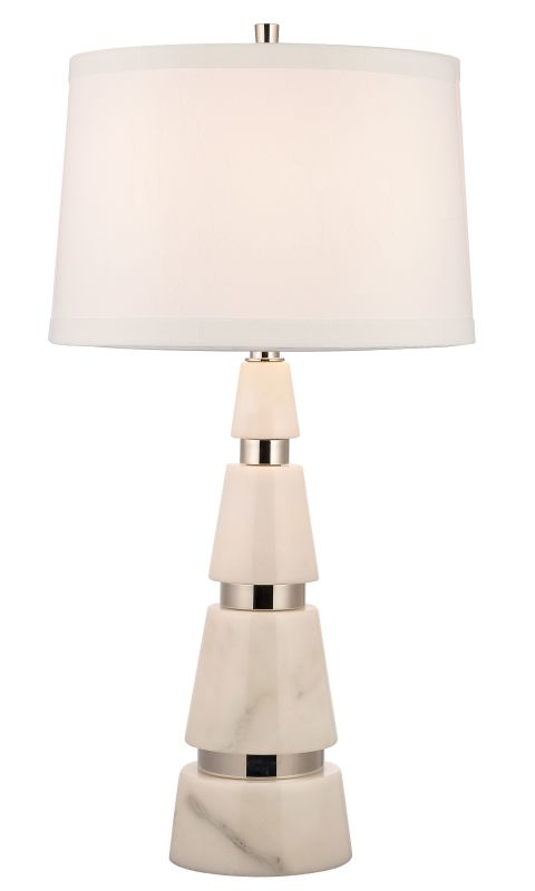 Hudson Valley Lighting L789-WS Modena 1 Light Marble Table Lamp with Sale $799.00 ITEM#: 2295185 MODEL# :L789-PN-WS UPC#: 806134156633 :