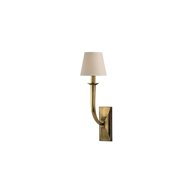 Hudson Valley Lighting 110 Vienna 1 Light Wall Sconce Aged Brass
