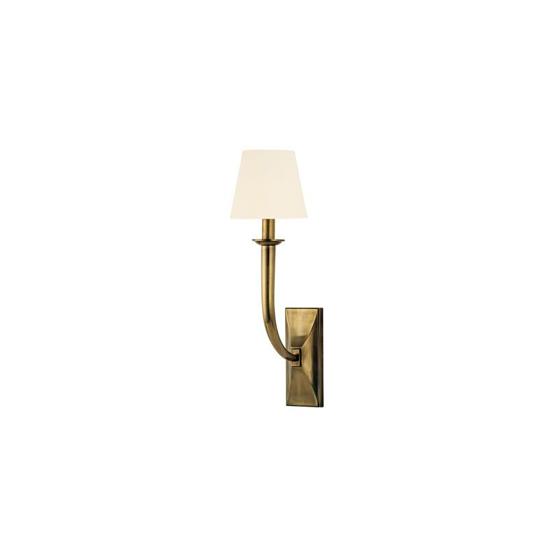 Hudson Valley Lighting 110 Vienna 1 Light Wall Sconce Aged Brass /