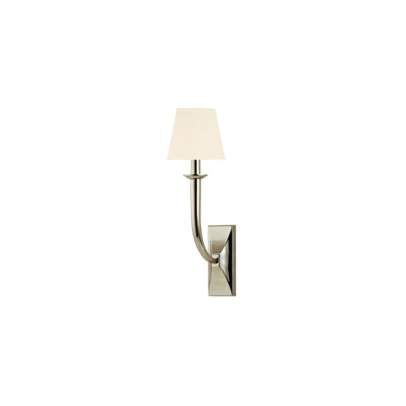 Hudson Valley Lighting 110 Vienna 1 Light Wall Sconce Polished Nickel Sale $320.00 ITEM#: 2062718 MODEL# :110-PN-WS UPC#: 806134146436 :
