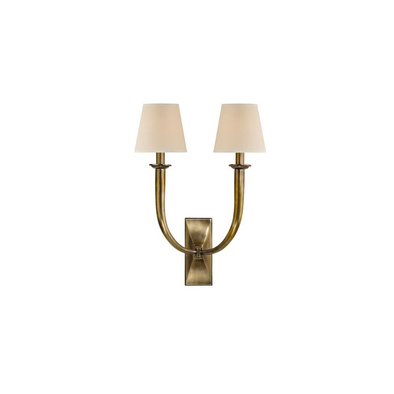 Hudson Valley Lighting 112 Vienna 2 Light Wall Sconce Aged Brass