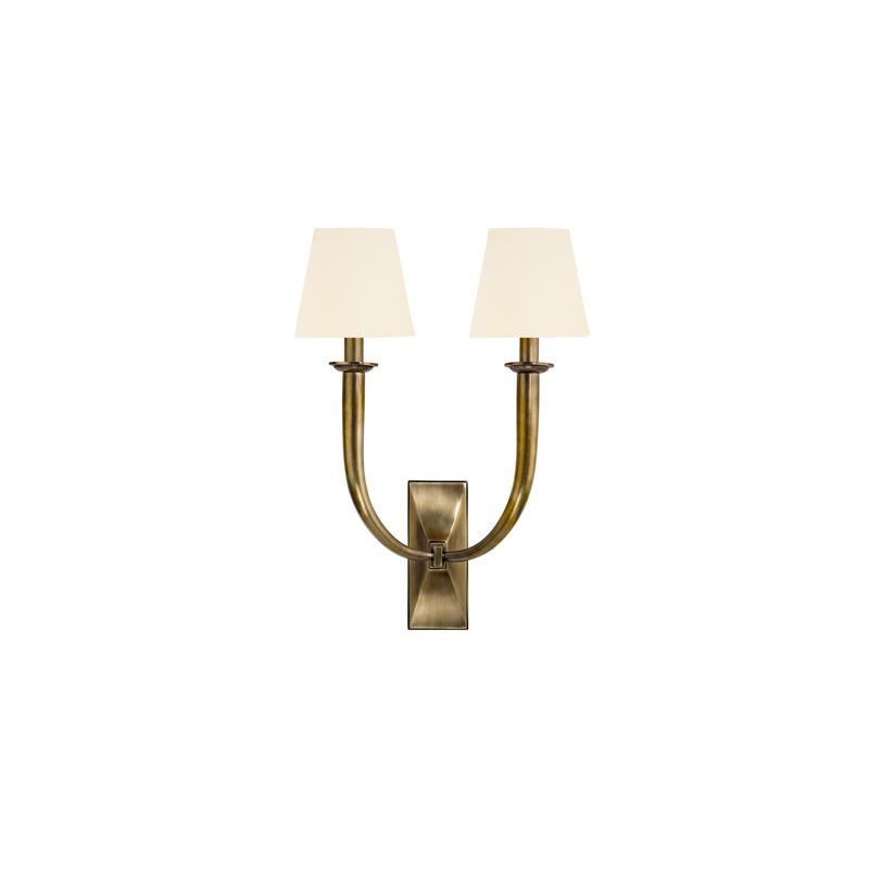 Hudson Valley Lighting 112 Vienna 2 Light Wall Sconce Aged Brass /