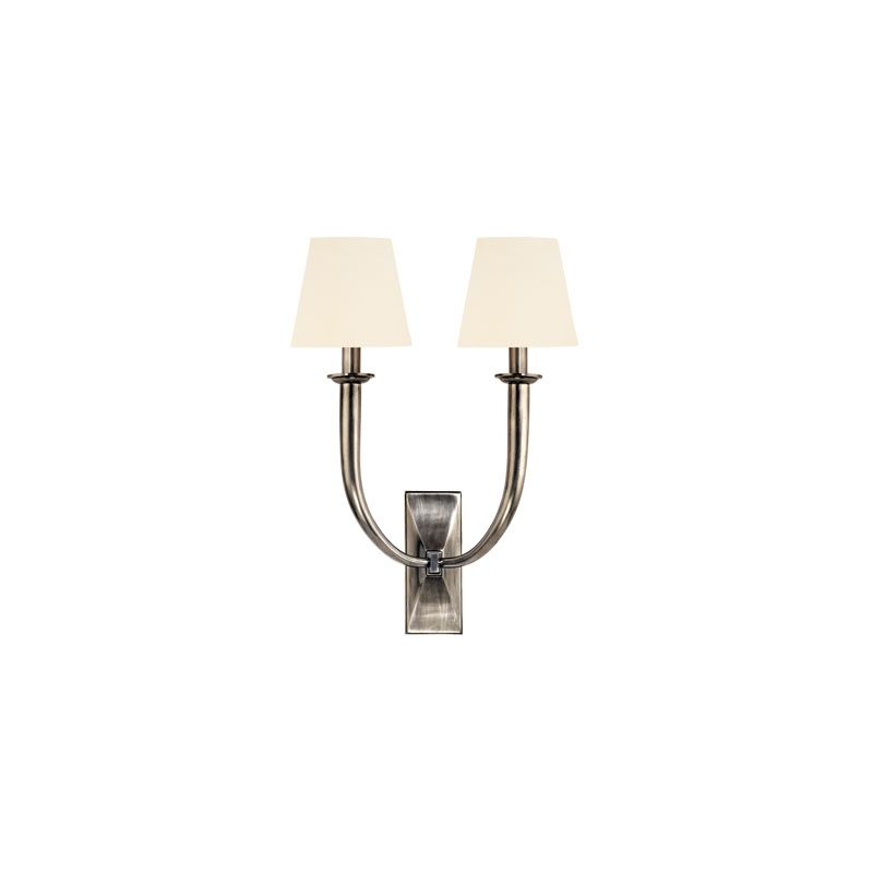 Hudson Valley Lighting 112 Vienna 2 Light Wall Sconce Aged Silver /