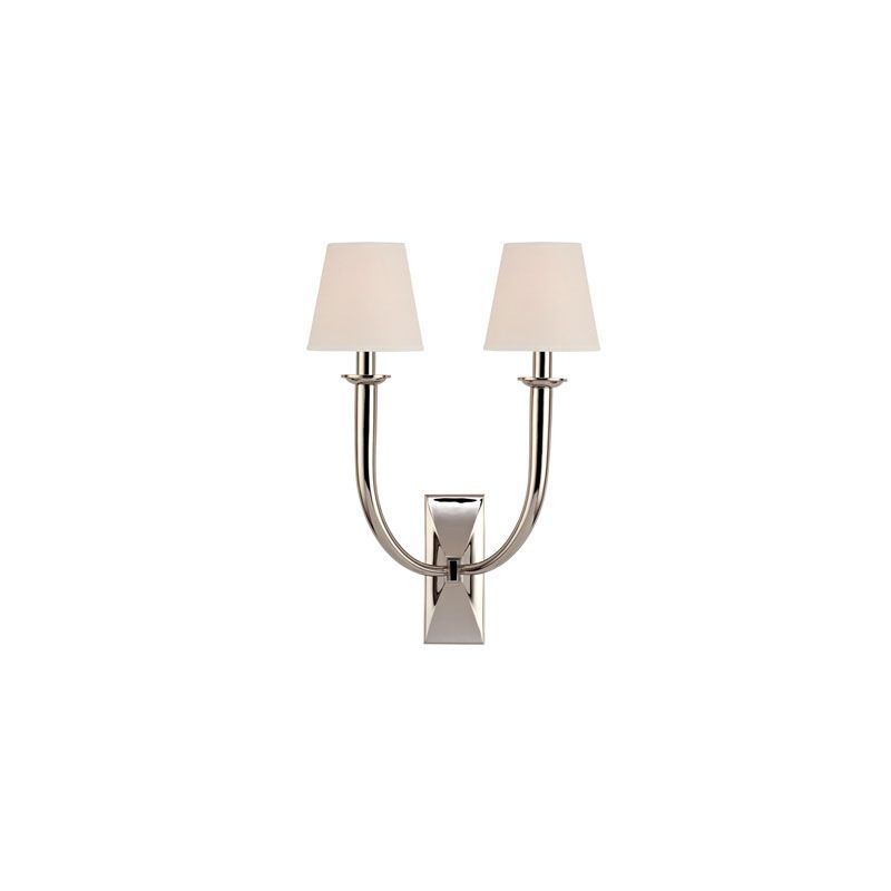 Hudson Valley Lighting 112 Vienna 2 Light Wall Sconce Polished Nickel