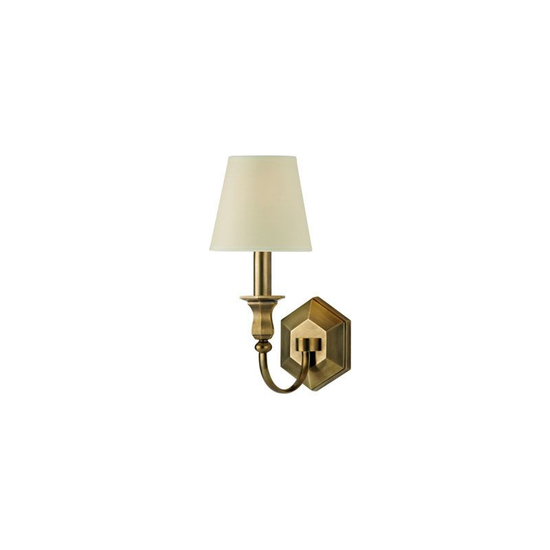 Hudson Valley Lighting 1411 Charlotte 1 Light Wall Sconce Aged Brass