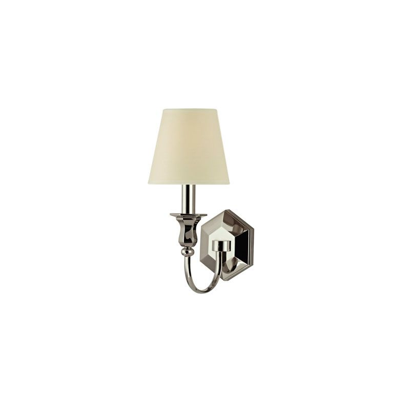 Hudson Valley Lighting 1411 Charlotte 1 Light Wall Sconce Polished Sale $300.00 ITEM#: 2062731 MODEL# :1411-PN UPC#: 806134138745 :