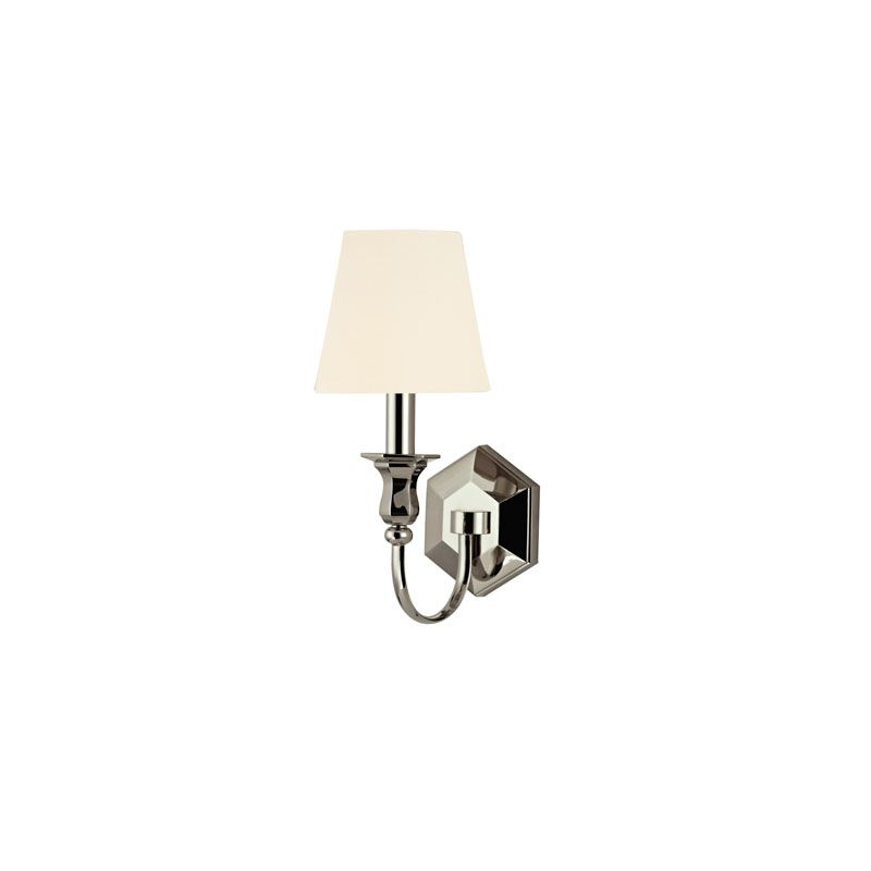 Hudson Valley Lighting 1411 Charlotte 1 Light Wall Sconce Polished Sale $300.00 ITEM#: 2062732 MODEL# :1411-PN-WS UPC#: 806134146740 :