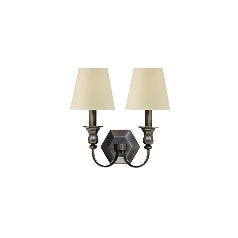 Hudson Valley Lighting 1412 Charlotte 2 Light Wall Sconce Old Bronze
