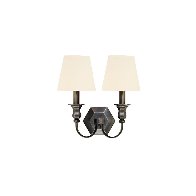 Hudson Valley Lighting 1412 Charlotte 2 Light Wall Sconce Old Bronze /