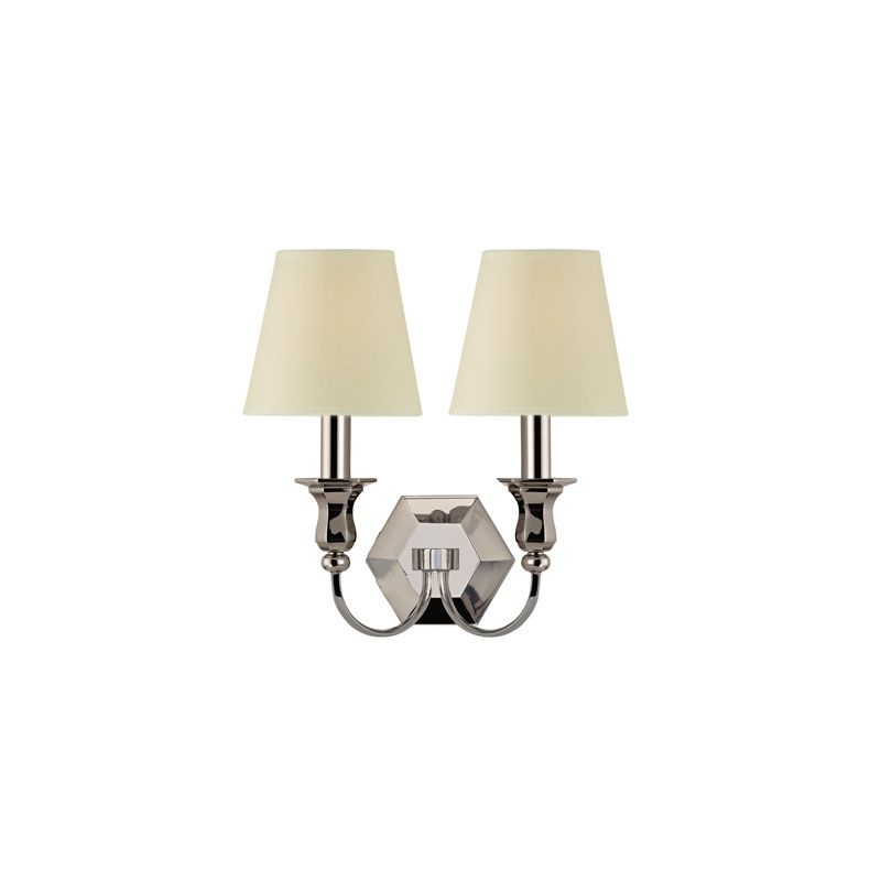 Hudson Valley Lighting 1412 Charlotte 2 Light Wall Sconce Polished