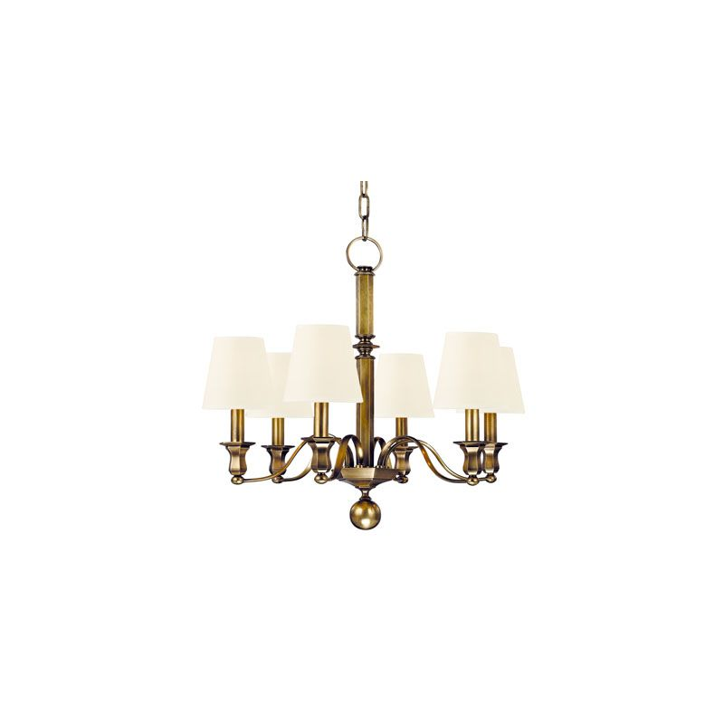 Hudson Valley Lighting 1416 Charlotte 6 Light Chandelier Aged Brass /