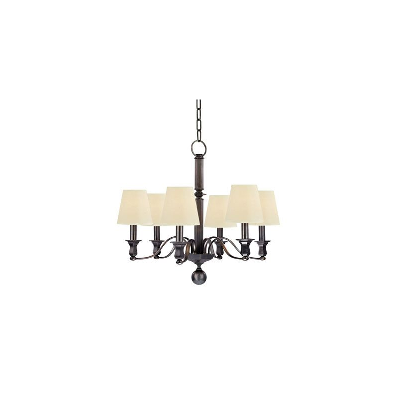 Hudson Valley Lighting 1416 Charlotte 6 Light Chandelier Old Bronze
