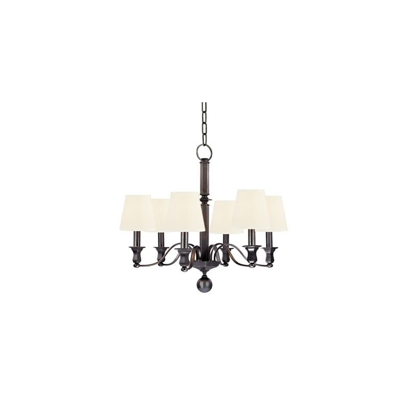 Hudson Valley Lighting 1416 Charlotte 6 Light Chandelier Old Bronze /