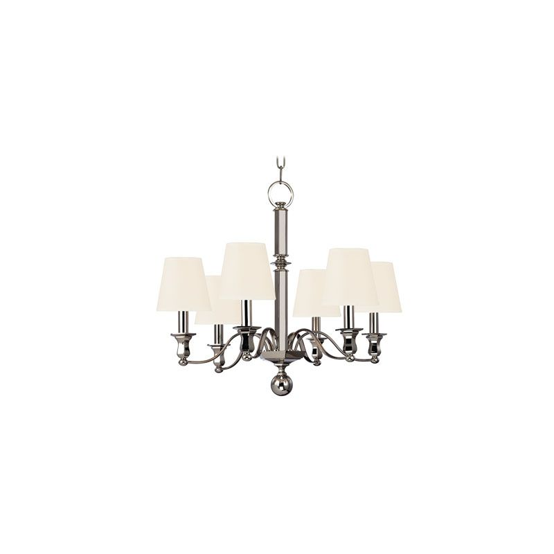 Hudson Valley Lighting 1416 Charlotte 6 Light Chandelier Polished