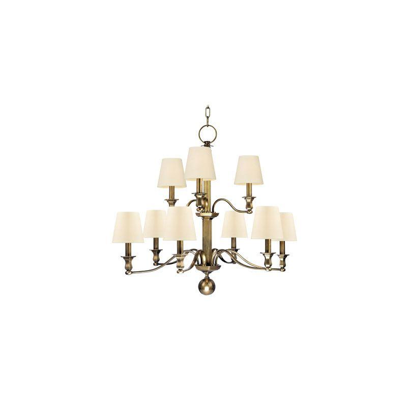Hudson Valley Lighting 1419 Charlotte 9 Light Chandelier Aged Brass