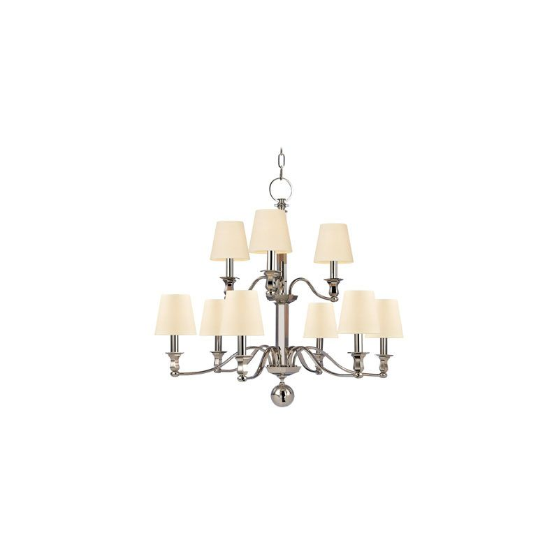 Hudson Valley Lighting 1419 Charlotte 9 Light Chandelier Polished