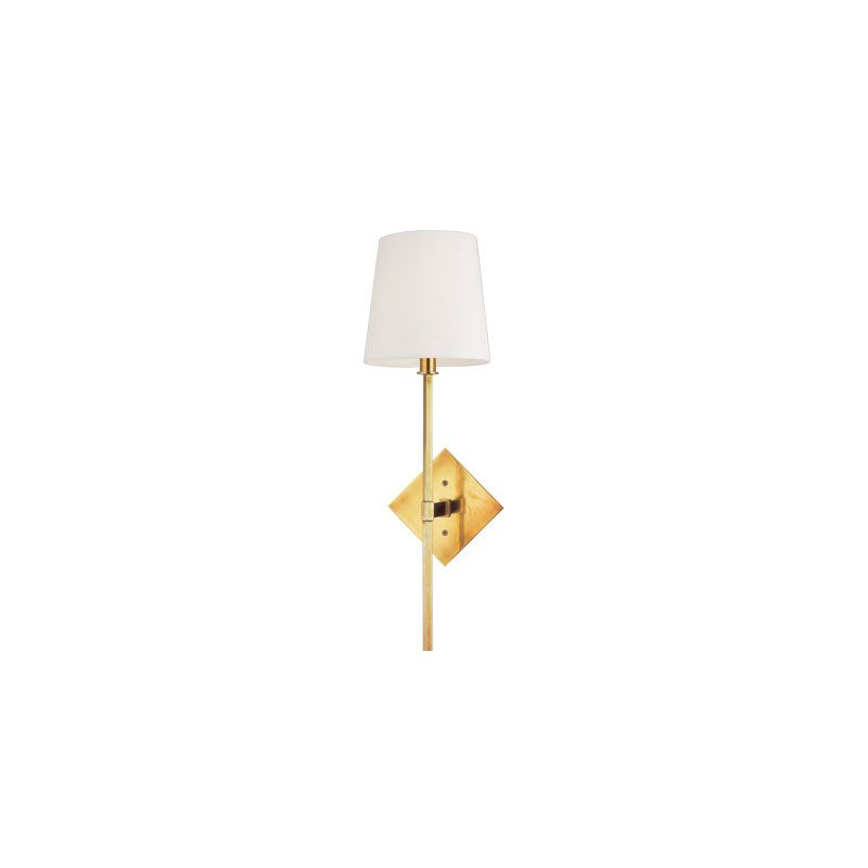 Hudson Valley Lighting 211 Cortland 1 Light Wall Sconce Aged Brass