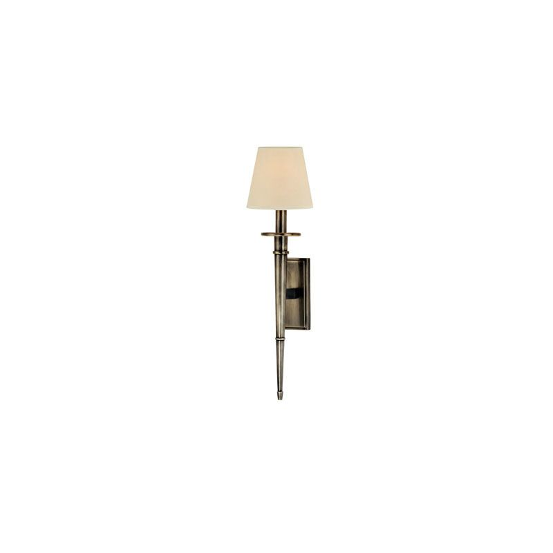 Hudson Valley Lighting 220 Stanford 1 Light Wall Sconce Aged Silver