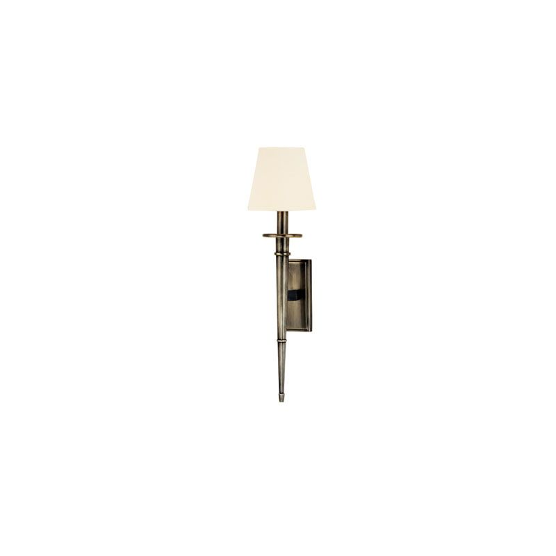 Hudson Valley Lighting 220 Stanford 1 Light Wall Sconce Aged Silver /