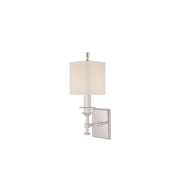 Hudson Valley Lighting 241 Berwick 1 Light Wall Sconce Polished Nickel Sale $288.00 ITEM#: 2062795 MODEL# :241-PN UPC#: 806134093464 :