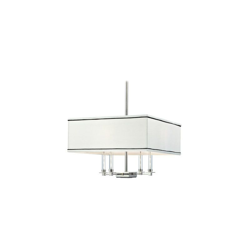 Hudson Valley Lighting 2919 Collins 4 Light Chandelier Polished Nickel