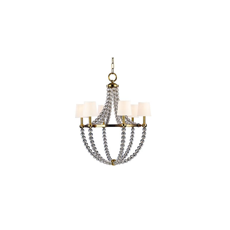Hudson Valley Lighting 3116 Danville 6 Light Chandelier Aged Brass /