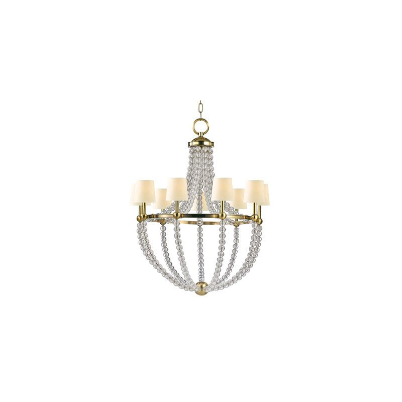 Hudson Valley Lighting 3119 Danville 9 Light Chandelier Aged Brass