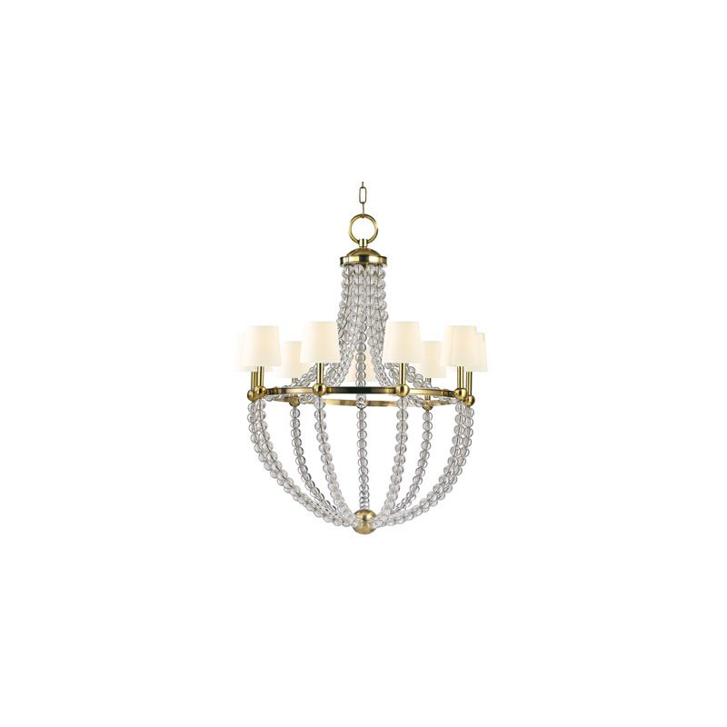 Hudson Valley Lighting 3119 Danville 9 Light Chandelier Aged Brass /