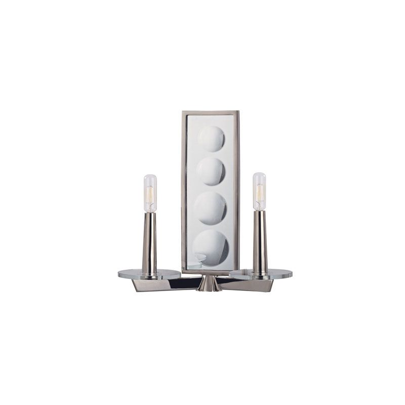 Hudson Valley Lighting 312 Ashley 2 Light Wall Sconce Polished Nickel