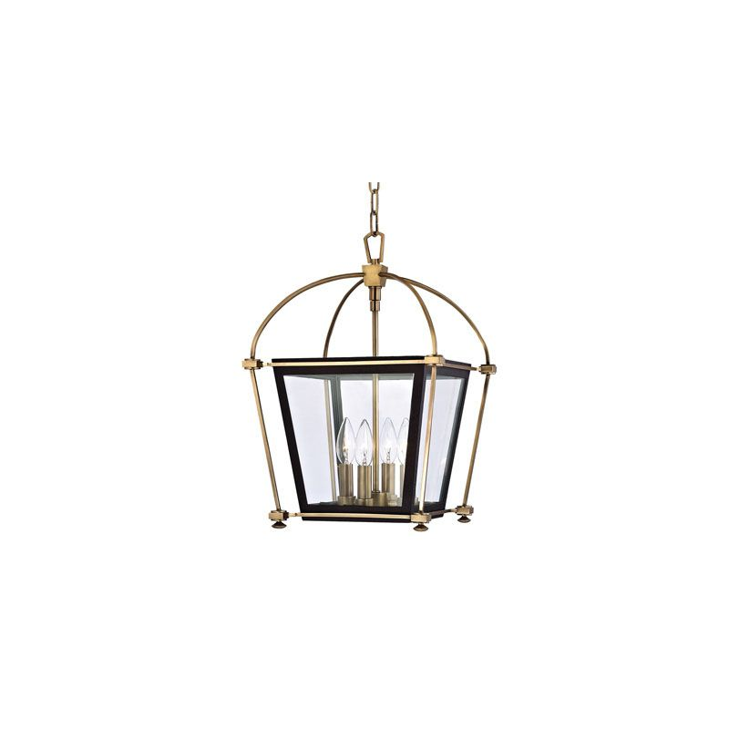 Hudson Valley Lighting 3612 Hollis 4 Light Pendant Aged Brass Indoor