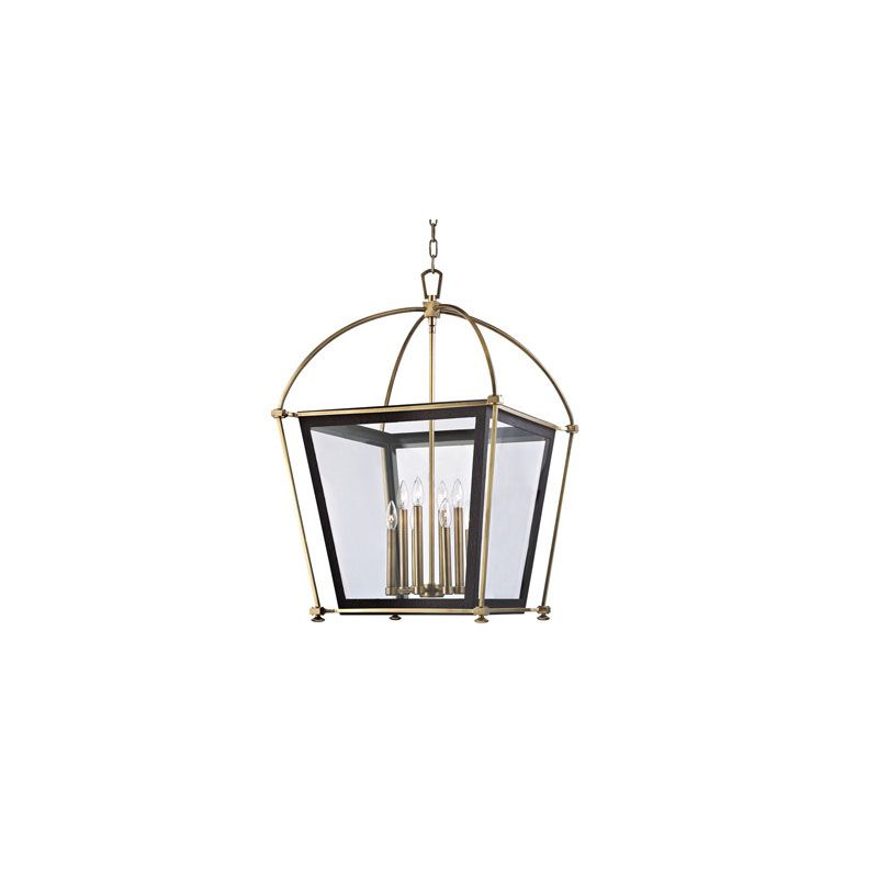 Hudson Valley Lighting 3624 Hollis 8 Light Pendant Aged Brass Indoor