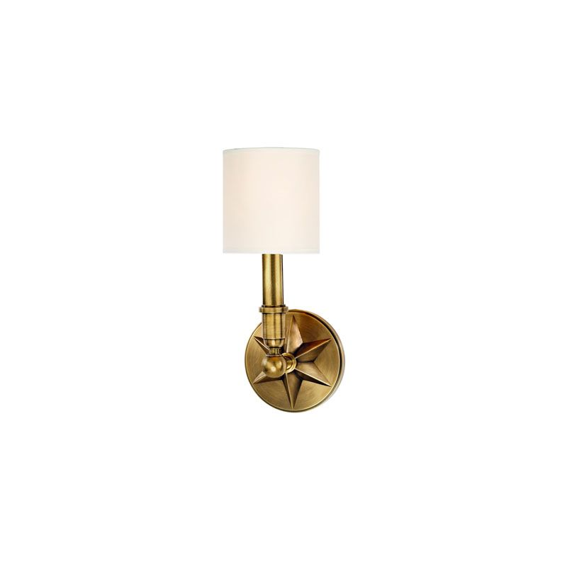 Hudson Valley Lighting 4081 Bethesda 1 Light Wall Sconce Aged Brass / Sale $320.00 ITEM#: 2062939 MODEL# :4081-AGB-WS UPC#: 806134146962 :