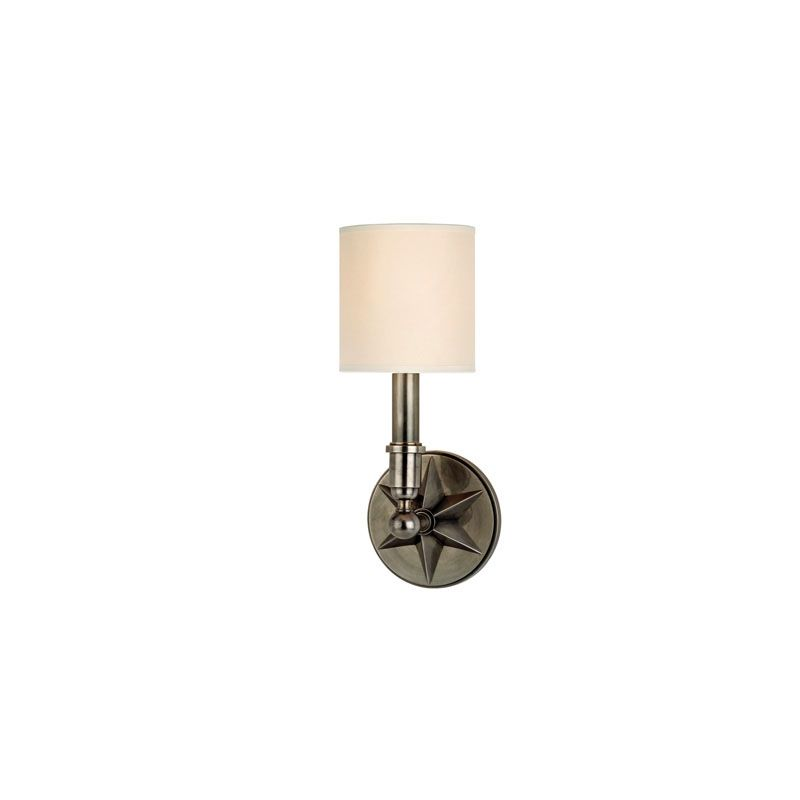 Hudson Valley Lighting 4081 Bethesda 1 Light Wall Sconce Aged Silver