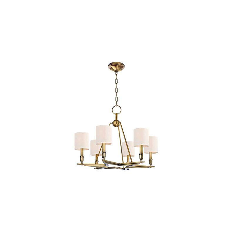 Hudson Valley Lighting 4086 Bethesda 6 Light Chandelier Aged Brass