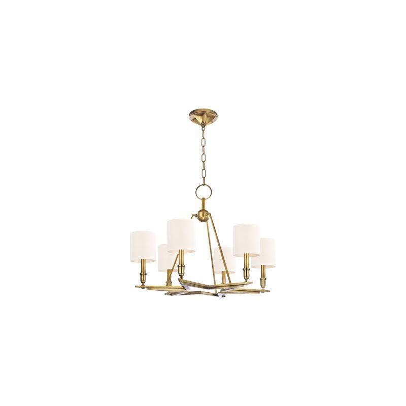 Hudson Valley Lighting 4086 Bethesda 6 Light Chandelier Aged Brass /