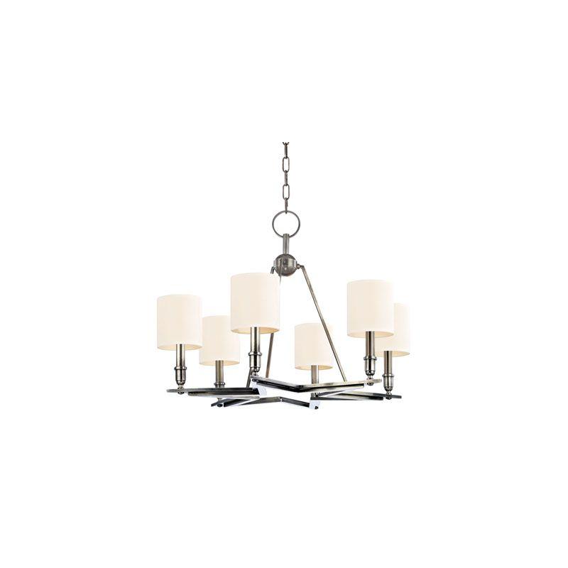 Hudson Valley Lighting 4086 Bethesda 6 Light Chandelier Aged Silver /